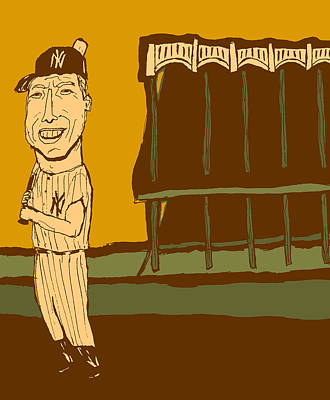 Mickey Mantle Painting - Mickey Mantle Yankee Stadium by Jay Perkins