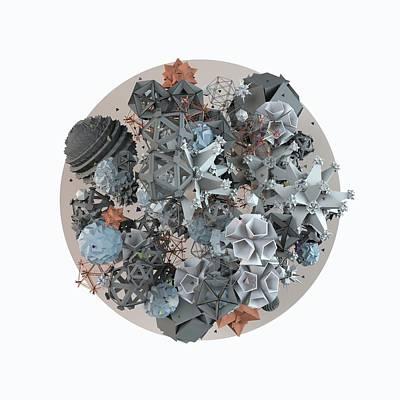 Complex Digital Art - Microcosm by Pollyanna Illustration