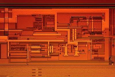 Microprocessor Clock Driver Print by Antonio Romero