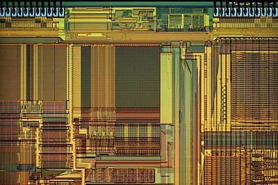 Component Photograph - Microprocessor Components by Antonio Romero