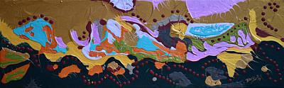 Microscopic Art Painting - Microscopic Life by Donna Blackhall