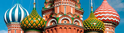 Onion Domes Photograph - Mid Section View Of A Cathedral, St by Panoramic Images