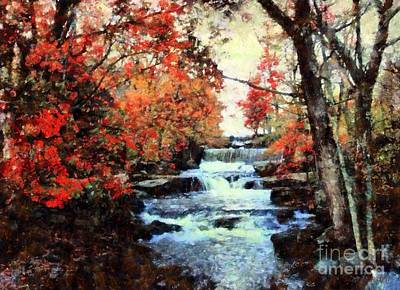 Mill In Woods Photograph - Middle Creek Mill Falls by Janine Riley