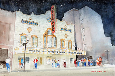 Midland Theatre Print by Monte Toon