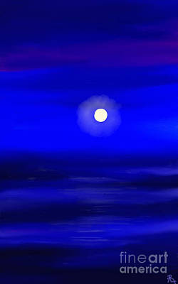 Artrage Painting - Midnight by Anita Lewis