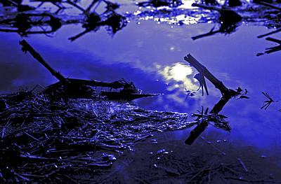 Midnight Blue Print by Mike Flynn