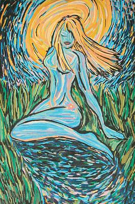 Midnight Blue Print by Mike Manzi