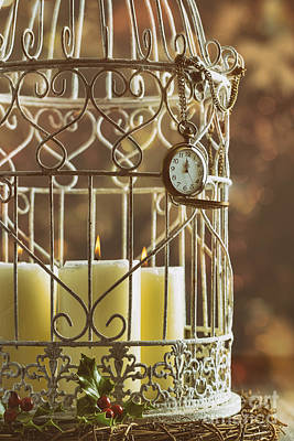 Bird Cages Photograph - Midnight Candles by Amanda Elwell