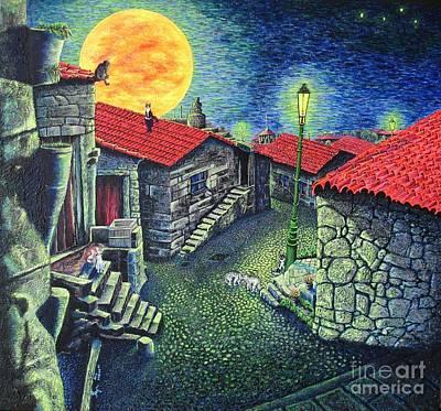 Midnight Concert Print by Viktor Lazarev