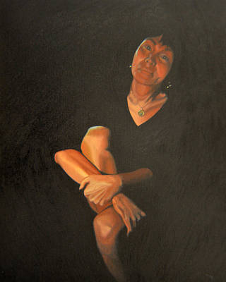 Interior Scene Painting - Midnight Conversation by Thu Nguyen