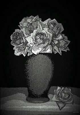 Midnight Roses Print by Ginger Guillot