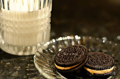 Oreo Photograph - Midnight Snack by Lois Bryan