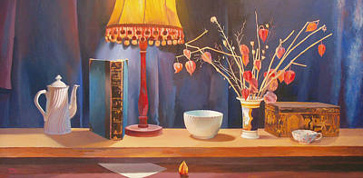 Teapot Painting - Midnight  Still Life by Terry Scales