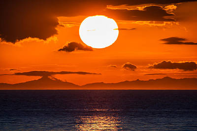 Solstice Photograph - Midnight Sunset, Snaefellsnes Peninsula by Panoramic Images