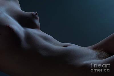 Women Photograph - Midriff Blue by Gib Martinez