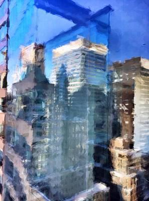 Nyc Digital Art - Midtown Day by H James Hoff