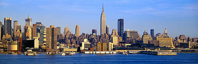 Empire State Photograph - Midtown Manhattan From New Jersey by Panoramic Images
