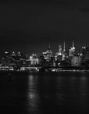 Triptych Photograph - Midtown Manhattan Skyline Triptych Left by David Morefield