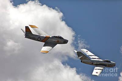 Mig 15 Or F-86 ? Print by Hank Taylor