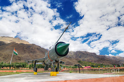 Mig-21 Fighter Plane Of Indian Air Force Used In Kargil War Displayed As Victorious Memory Print by Rudra Narayan  Mitra