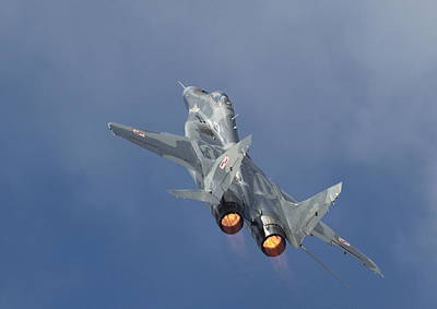 Mig29 - Fulcrum Print by Pat Speirs