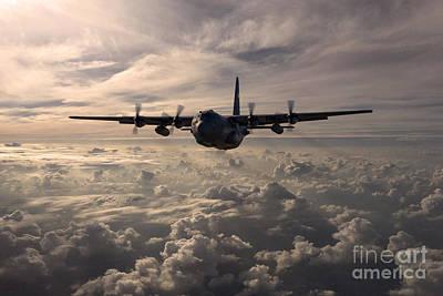 C130 Digital Art - Mighty Hercules by J Biggadike