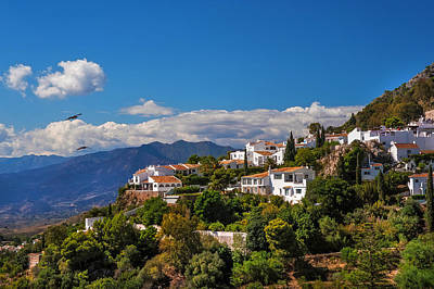 Red Roof Photograph - Mijas. White Village Of Spain by Jenny Rainbow