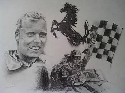 Mike Hawthorn Print by Chris Lambert