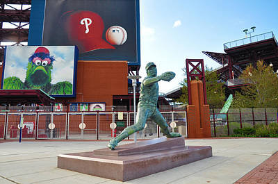 Steve Carlton Statue - Phillies Citizens Bank Park Print by Bill Cannon
