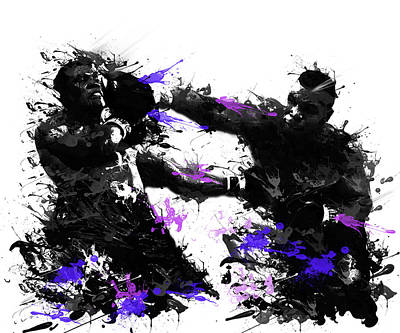 Knockout Painting - Mike Tyson by Bekim Art