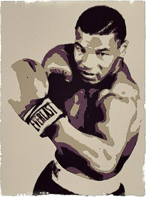 Boxer Painting - Mike Tyson Poster Art by Florian Rodarte