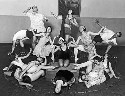 Dance Studio Photograph - Mikhail Mordkin And Students by Underwood Archives