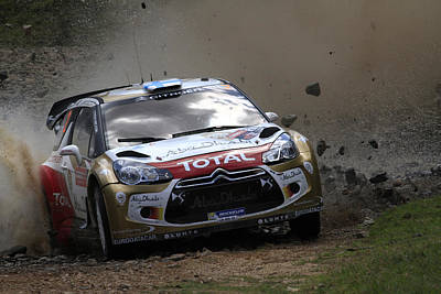 Ds3 Photograph - Mikko Hirvonen Fia World Rally Championship Australia by Noel Elliot