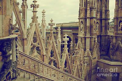 Detail Photograph - Milan Cathedral Vittorio Emanuele II Gallery Italy by Michal Bednarek