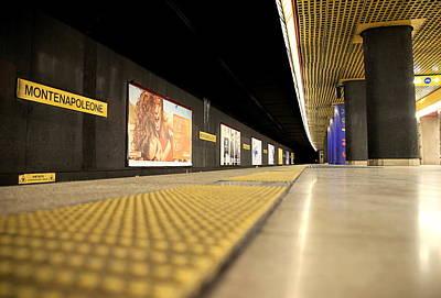 Milan Subway Station Print by Valentino Visentini