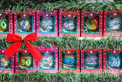 Mile Marker 0 Christmas Decorations Key West 4  Print by Ian Monk