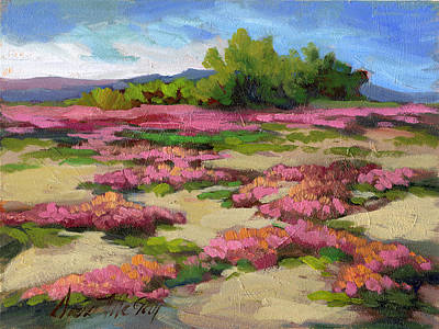 Verbena Painting - Miles Avenue Years Ago by Diane McClary