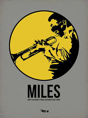 Jazz Mixed Media - Miles Poster 3 by Naxart Studio