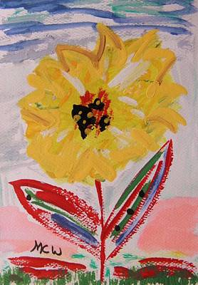 Simplicity Drawing - Miley-flowers From The Flower Patch by Mary Carol Williams