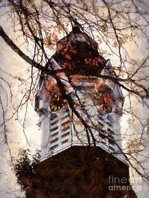 The Main Photograph - Milford Clock Tower Vintage by Janine Riley