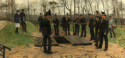 Musket Painting - Military Funeral by Mountain Dreams