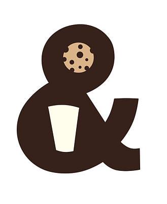 Cookies Digital Art - Milk And Cookies by Neelanjana  Bandyopadhyay