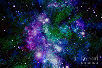 Milky Way Abstract Print by Carol Groenen