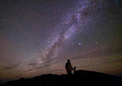 Milky Way And Photographer Print by Babak Tafreshi