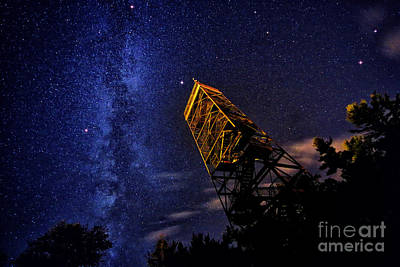 Watch Tower Photograph - Milky Way And Summer Triangle by Charline Xia