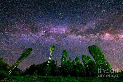 Milky Way In A Starry Sky Print by Babak Tafreshi