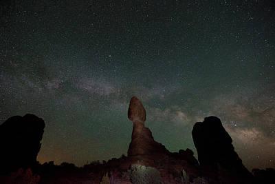 Milky Way Night Print by Jeff Lewis