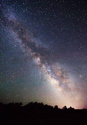 Milky Way On The Rocks Print by Darren  White