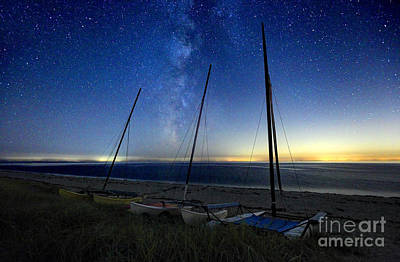 Cape Cod Photograph - Milky Way Over A Lonely Beach On Cape Cod by Denis Tangney Jr