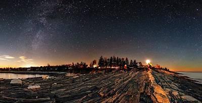 Moonlit Night Photograph - Milky Way Over An Atlantic Coastline by Babak Tafreshi